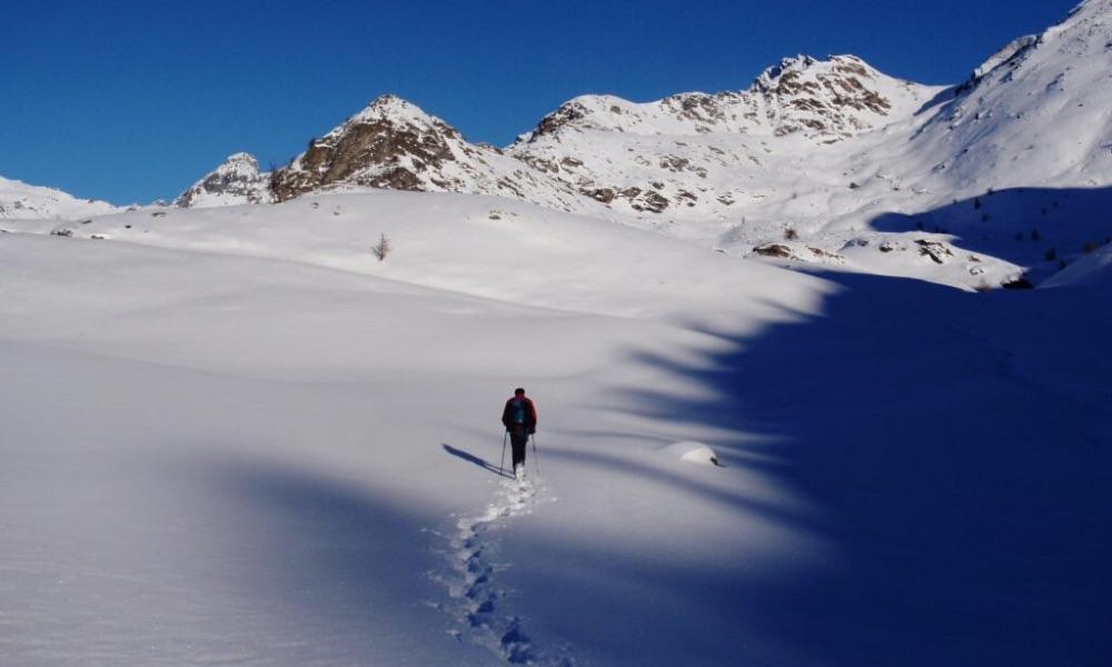 Snowshoes in La Thuile