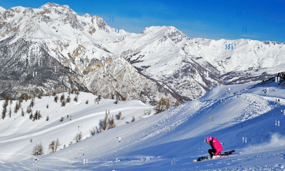 Sciatrice a Bardonecchia
