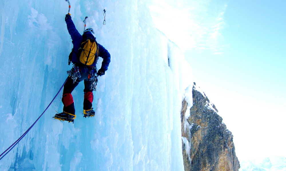 Iceclimbing session