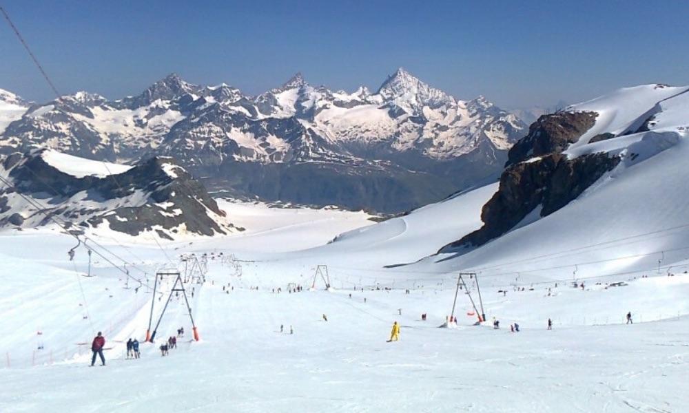 Summer skiing in Cervinia