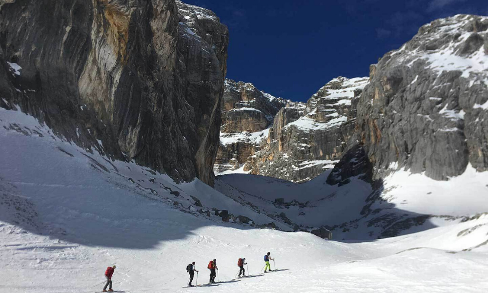 Ski mountaineering in Cortina