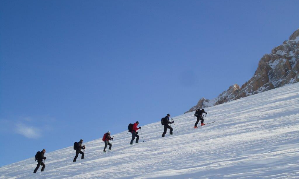Ski mountaineering in Alagna