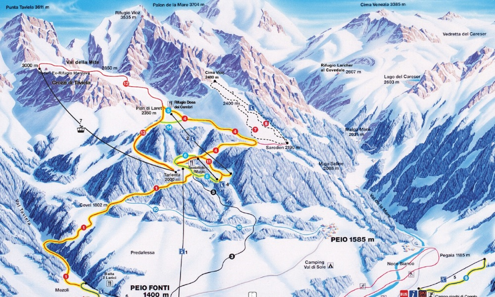 Ski area of Livigno